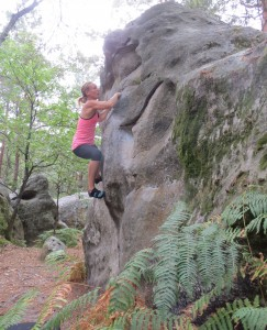 Climbing in Fontainebleau (Aug 2015)