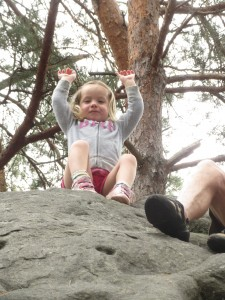 My little bears climbing in Fontainebleau