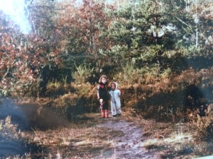 In the Fontainebleau Forest My sister Anouck (left) and me (right)