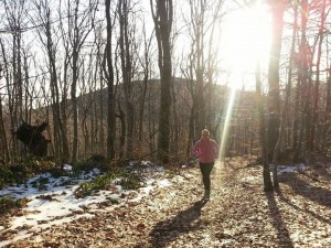 Running on the Pilat Trail