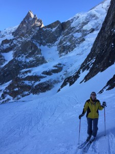 Skiing in La Grave - Views of La Meije