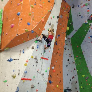 In the Final at the Petzl Lead Climbing Championships
